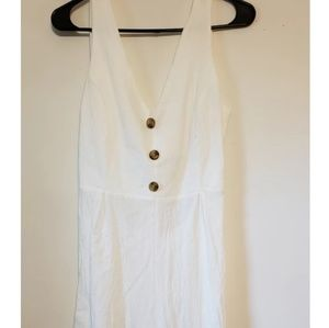 White, Tie Back Jumpsuit One size fits most  VENDO